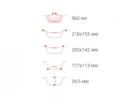 Контейнер из пищевой алюминиевой фольги прямоугольный 960 млл SP64L 100 штук