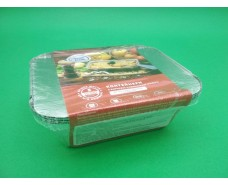 Контейнер алюминевый для еды  5шт  с крышкой 430мл (SP24L&Lids/5 ) (1 пач)