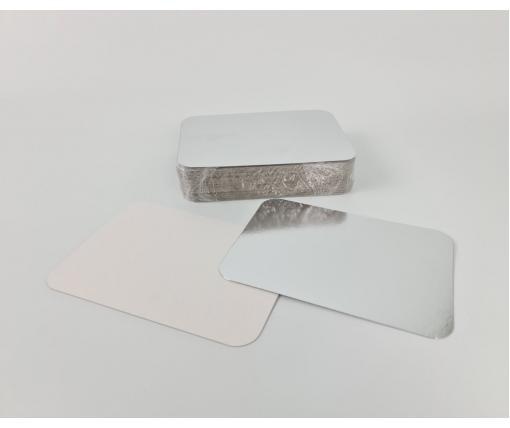 Крышка из картона ламинированного на контейнер SP64L 100шт (1 пачка)