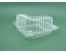 Контейнер пластиковый с откидной крышкой V500 млл SL9-1 119*119*25*35 (50 шт)