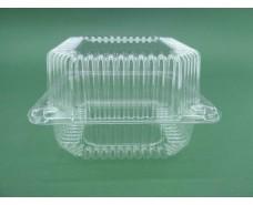 Контейнер пластиковый с откидной крышкой V910 млл ПС-100 135*130*77 (50 шт)