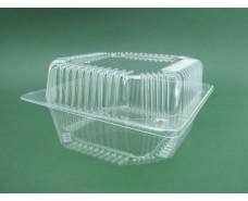 Контейнер пластиковый с откидной крышкой V1250 млл ПС-11 155*155*80  (50 шт)