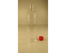 Пластиковая бутылка ПЭТ 0,5 л,  прозрачная с крышкой (150 шт)