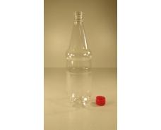 Пластиковая бутылка  ПЭТ 1,0 л, прозрачная с крышкой (110 шт)