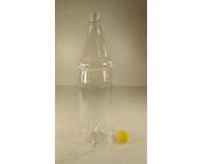 Пластиковая бутылка ПЭТ 1,5 л, прозрачная с крышкой  (100 шт)