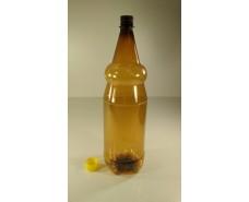 Пластиковая бутылка 2,0 л, коричневая с крышкой  (70 шт)