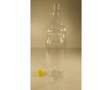 Пластиковая бутылка ПЭТ 2,0 л, прозрачная с крышкой  (72 шт)