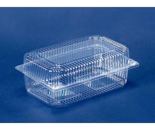 Одноразовая пластиковая упаковкас откидной крышкой ПС-122  V1700 млл в упаковке 50 штук