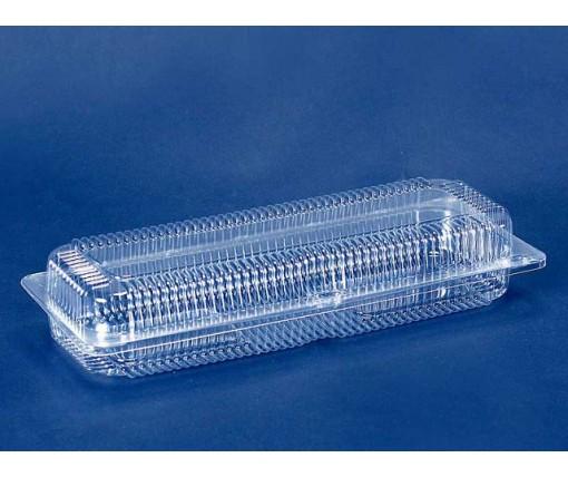 Одноразовая пластиковая упаковкас откидной крышкой ПС-130 V1650 млл в упаковке 50 штук