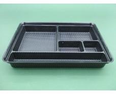 Упаковка для суши ПС-610ДЧ (27,5/19,5/40) с делениями (50 шт)