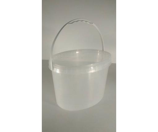 Емкость пластиковая пищевая с крышкой 11л. прозрачное