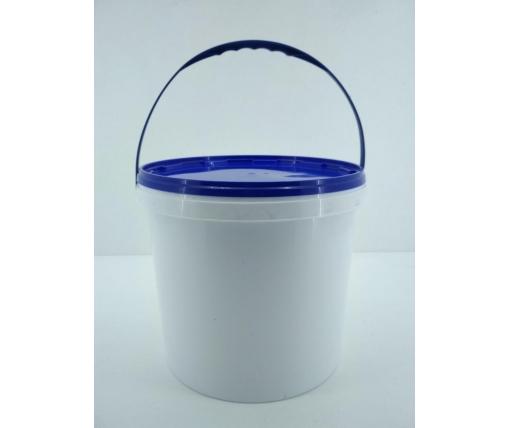 Ведро для пищевых продуктов с крышкой 10 л, белое