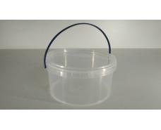 Ведро круглое с крышкой 0,5 л, прозрачное (50 шт)