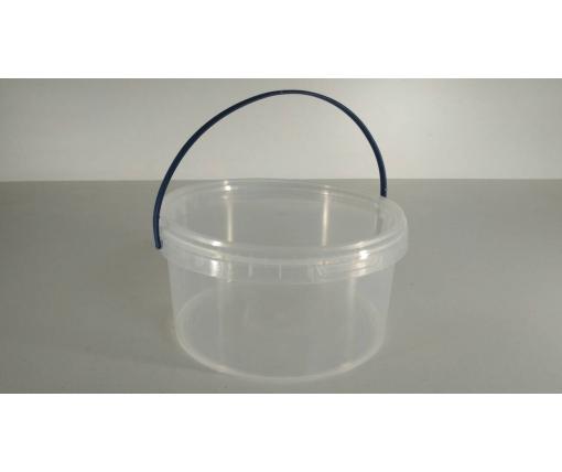 Емкость пластиковая пищевая с крышкой 0,5 л, прозрачное