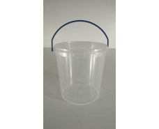 Ведро круглое с крышкой 1,1 л прозрачное (50 шт)