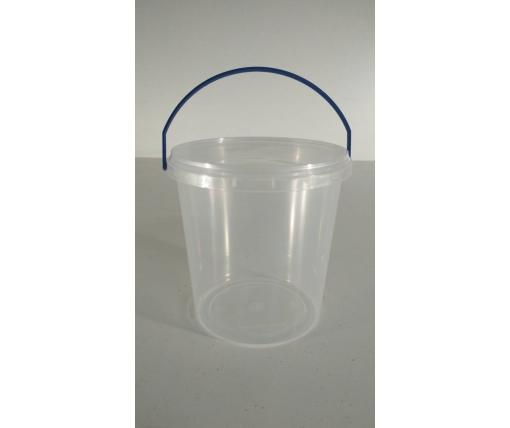 Ведро для пищевых продуктов 1,1 л прозрачное