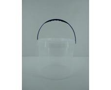 Ведро круглое с крышкой 10 л, прозрачное (40 шт)