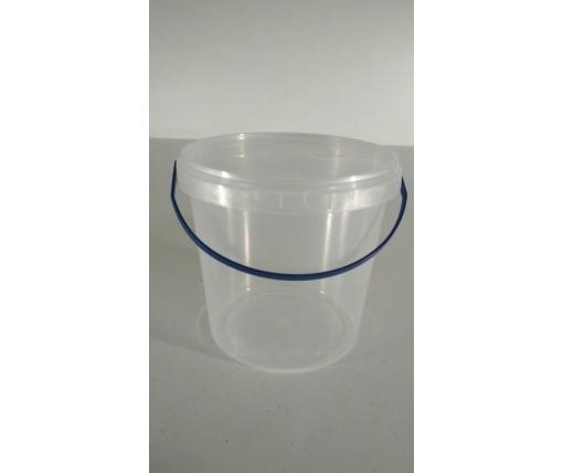 Емкость пластиковая пищевая с крышкой 1 л, прозрачное