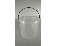 Ведро круглое с крышкой 3 л, прозрачное (80 шт)