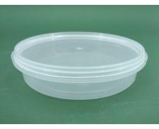 Судок с крышкой  круглый 0,2 л. прозрачное  (50 шт)