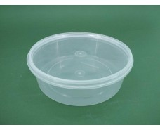 Судок с крышкой  круглый 0,5 л. прозрачное  (50 шт)
