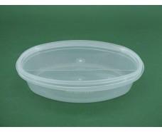 Судок с крышкой  овальный 0,3 л. прозрачное  (50 шт)