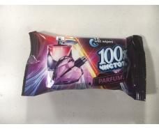 """Салфетки для рук очищающие 15шт """"100%чистоты""""Parfums/Парфум (1 пач)"""