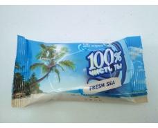 """Салфетки для рук очищающие 15шт """"100%чистоты""""Sea breeze/Морской (1 пач)"""