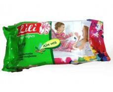 Дезинфицирующие влажные салфетки 100шт Lili