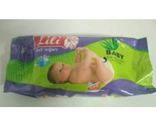 Влажная салфетка  60шт Lili