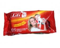 Влажная салфетка освежающая  63шт Lili