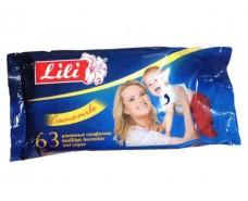 Влажная салфетка  63шт Lili
