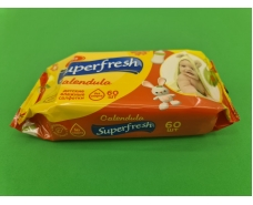 Салфетки влажные Суперфреш( 60шт)для детей (1 пач)