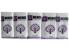 Носовые платки бумажные не ароматизированные Merci Стандарт (10 шт)
