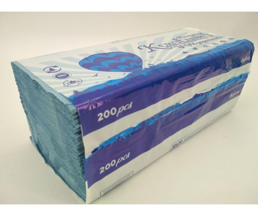 Бумажное полотенце V/V синее(200 листов) Каховинка (1 пач)
