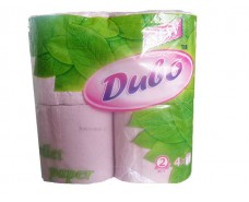 Туалетная бумага макулатурная.розовая (а4) Диво (1 пач)