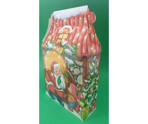 Новогодняя коробка для конфет №109(Каменый Дом 600) (25 шт)