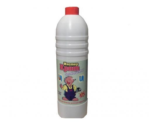 Жидкое средство для прочистки труб  Мистер Крот Суперконцентрат 1 л (1 шт)