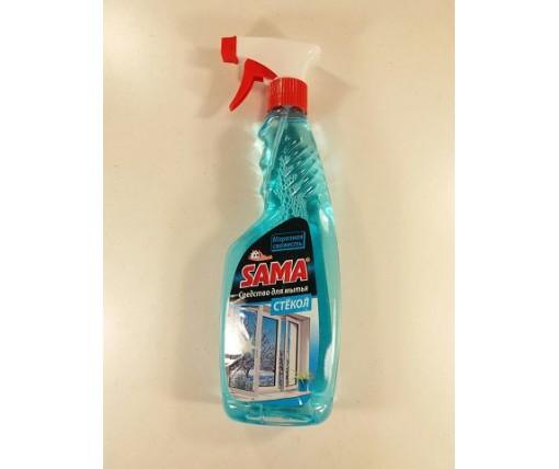 Моющее средство для стекла и зеркал САМА морозная свежесть 500г (курок) (1 шт)