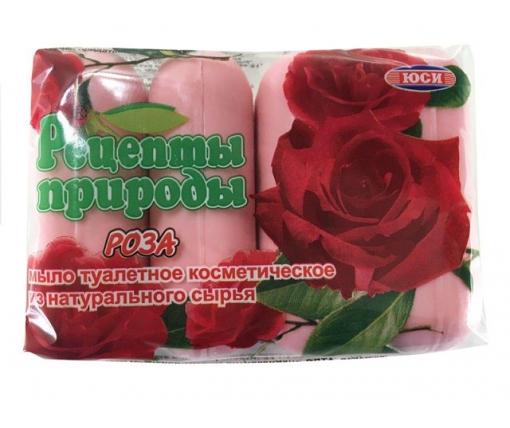 """Мыло из натурального сырья """"ЮСИ""""(4шт*75гр) РОЗА (1 пач)"""