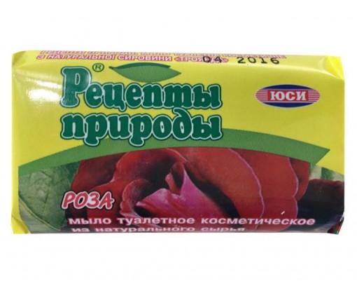 Туалетное косметическое крем-мыло ЮСИ Рецепты природы(70гр) РОЗА (1 шт)