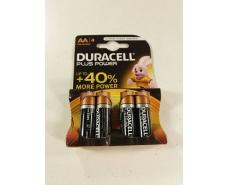 Батарейка пальчиковая Duracell (АА R6) алкалин (Б-4) (4 шт)