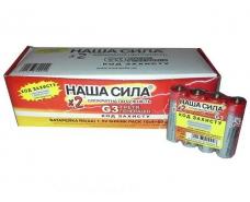 Элемент питания (батарейка)  Наша Сила оригинал  (АА R6) солевые (Б-4) (4 шт)