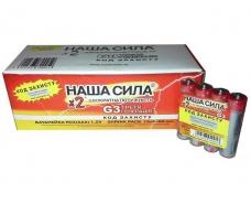 Элемент питания (батарейка)  Наша Сила оригинал (ААА R3) солевые (Б-4) (4 шт)