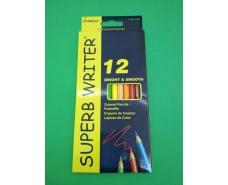 Карандаши цветные набор 12 цветов marco 4100-12 CB superb writer( марко) (1 пач)