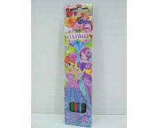 Карандаши цветные набор 6шт Мультяшки (1 пач)