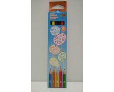 Карандаши цветные набор  6шт  (1 пач)