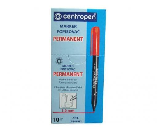 Маркер перманентный  1mm  тм Centropen код2846 синий (10 шт)