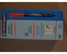 Перманентный маркер  1mm круглый, черный  тм Centropen  код2846 (10 шт)