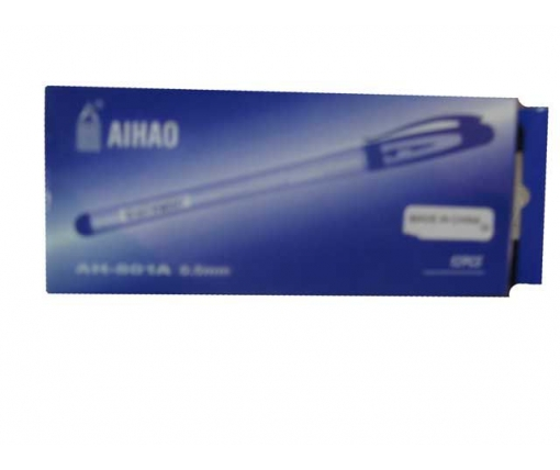 Гелевая ручка красная тм Аihao 801А (12 шт)